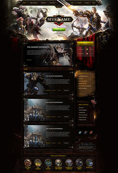 WoW Battle of Azeroth Game Website Template