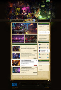 Hearthstone Game Website Template