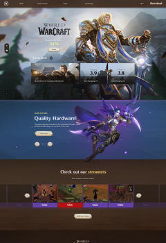 World of Warcraft Game Website Template