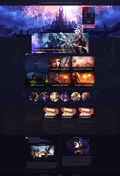WoW Violet Game Website Template