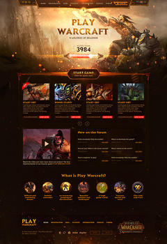 WoW Warlords Game Website Tempalte